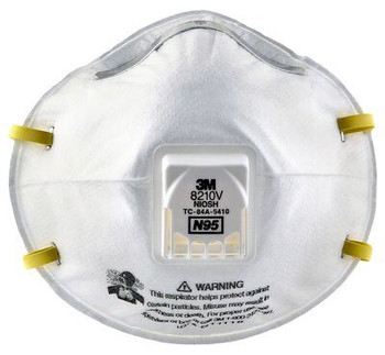 N95 Particulate Respirator with Cool Flow Valve Cone Mask 10pk (3M)