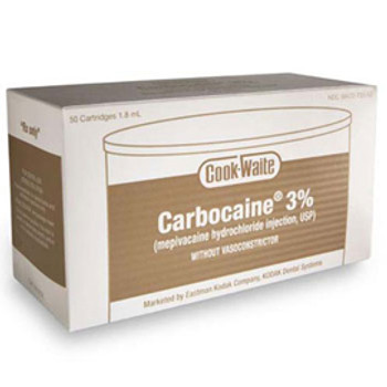 Carbocaine® 3%, Mepivacaine HCI, Box of 50 (Septodont) *FREE Shipping by Pricenex*
