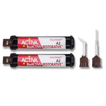 Activa Bioactive Restorative A3.5  Value Refill, 2 - 5ml/8g Syringes, 40 Mixing Tips.