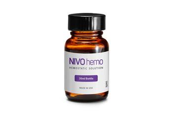 NIVO Hemo, Hemostatic Solution, Effectively Stops Minor Gingival Bleeding, Bottle of 1.