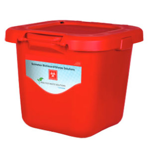 Solmetex Biohazard & Sharps Container Disposal - Red, 20 Gallon with Lid