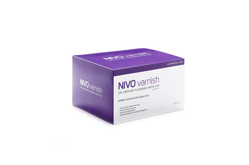 NIVO Varnish, Fluoride Varnish, 5% Sodium Fluoride, Watermelon, .4ml Unit Doses. Box of 50.