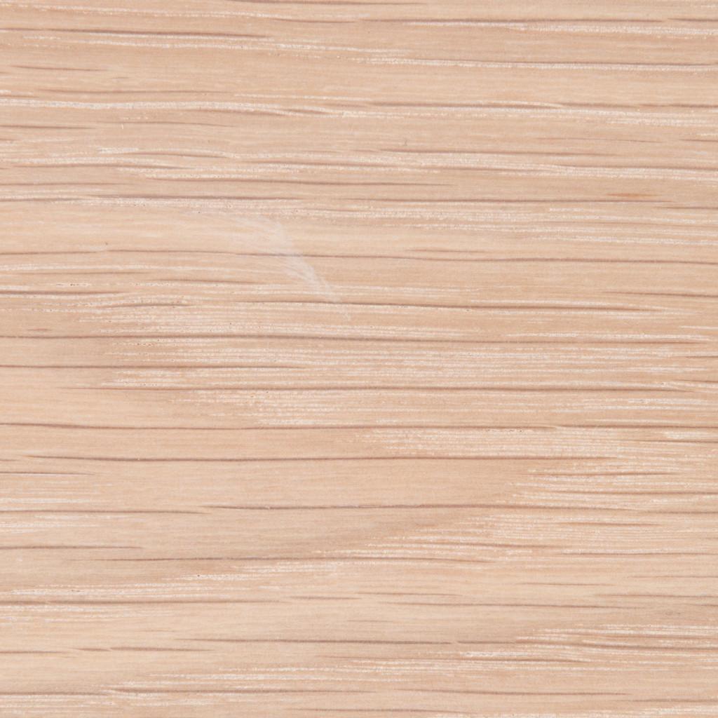 Detail of our glaze finished white oak floating wood shelves.