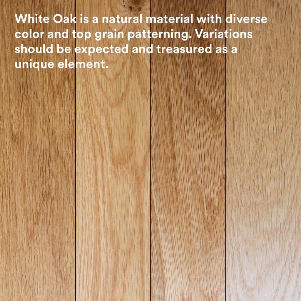Aksel White Oak Floating Shelf (Glazed)