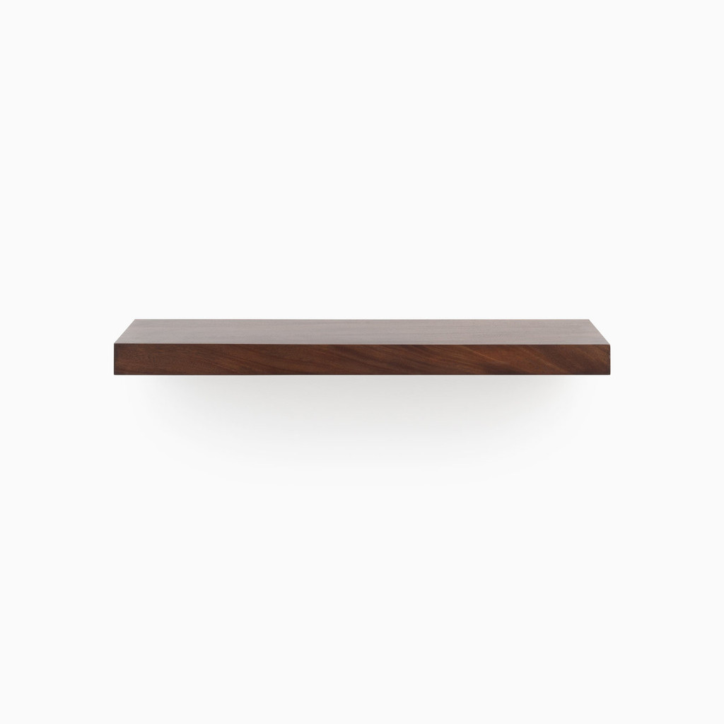 Our Espresso floating wood shelves are easy to install and will float real weight.