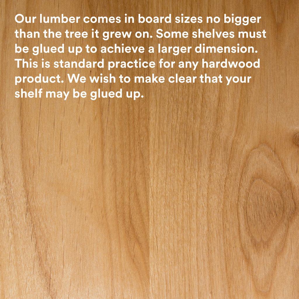 Aksel Nutmeg Floating Shelf (Rough Cut)