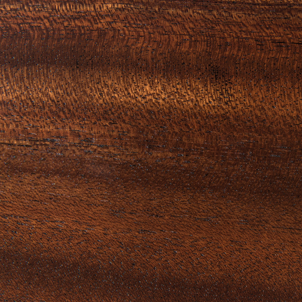 Detail of dutch mocha grain and finish.