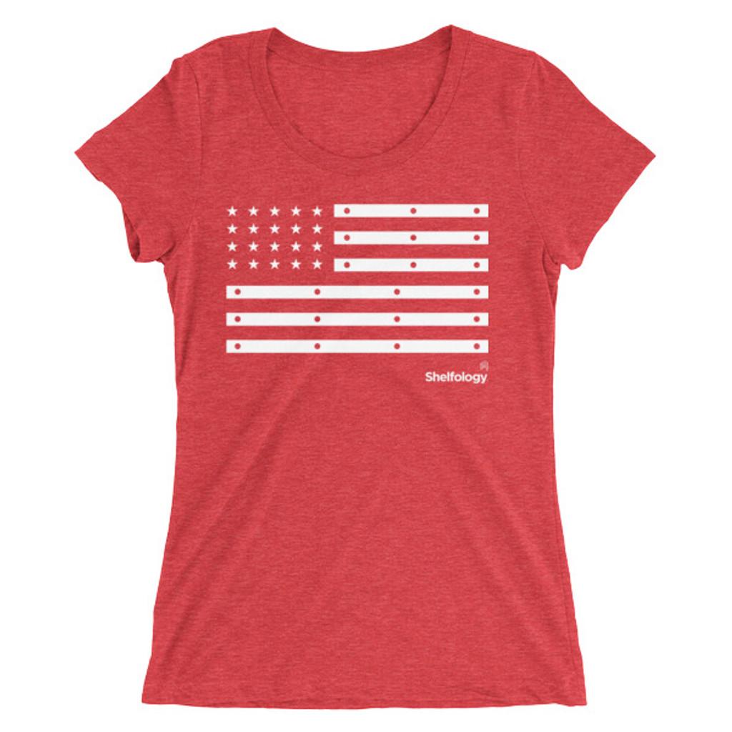 Women's American Bracket Scoop Neck Tee