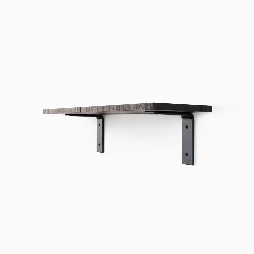 Leif Espresso Rough L Bracket Shelf System