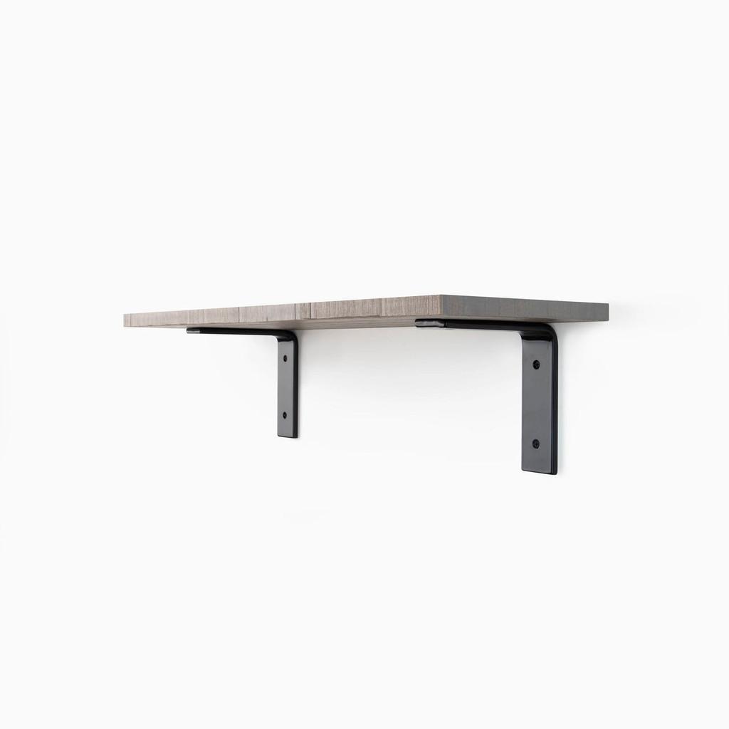 Leif Hatch Grey Rough L Bracket Shelf System