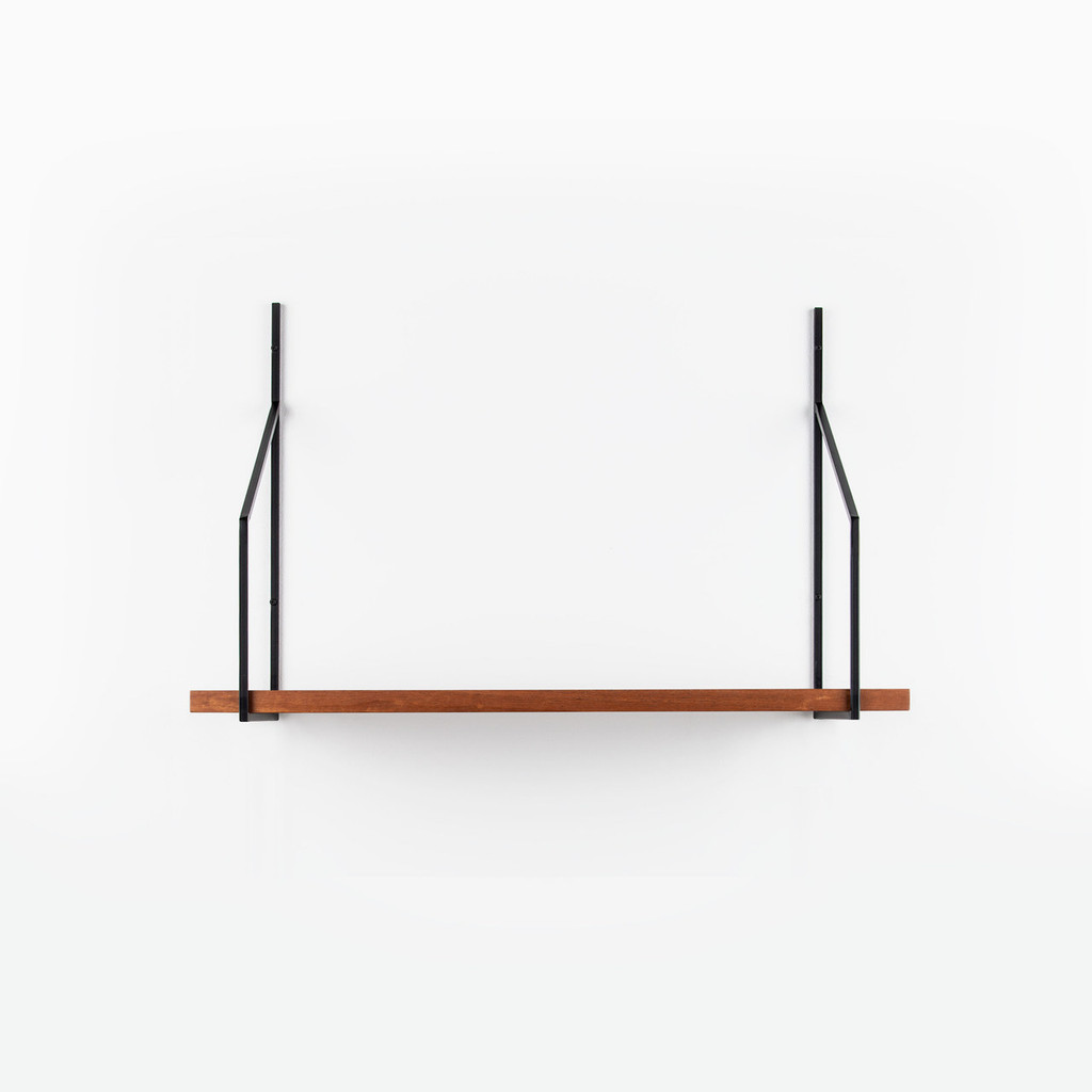 Verne Single One Shelf Bracket: Black
