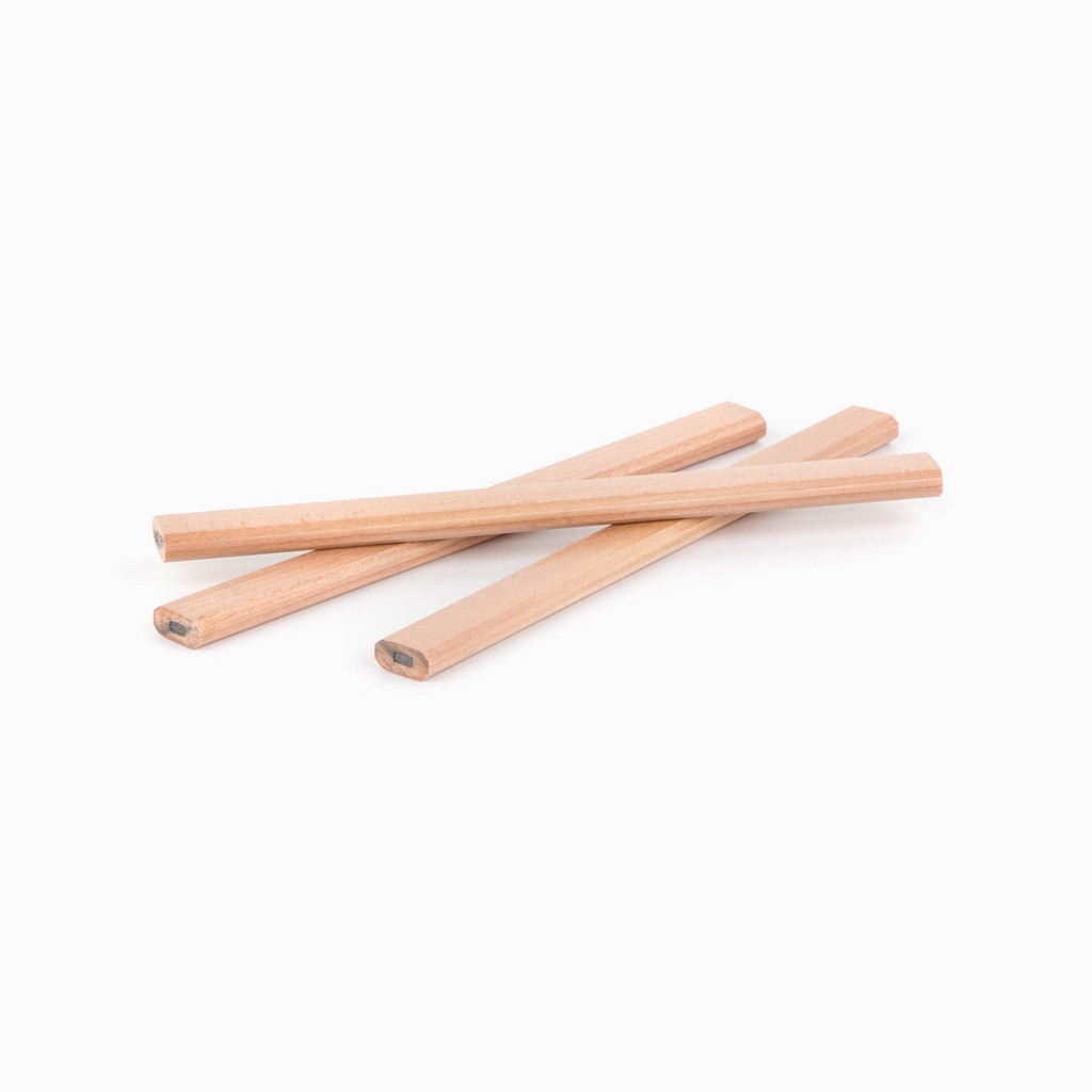 Natural Lacquered Carpenter Pencils