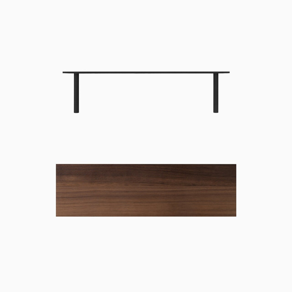 Aksel Walnut Floating Shelf