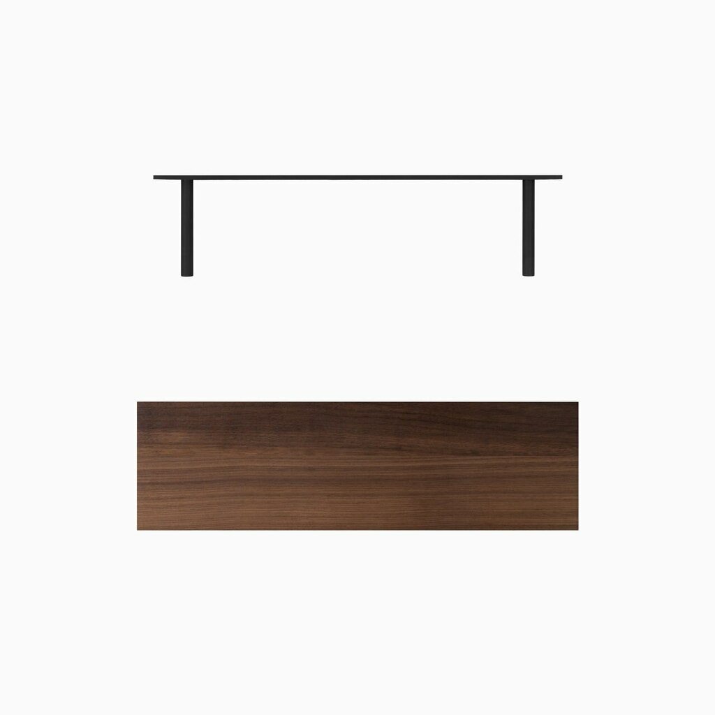 Solid Walnut floating wood shelves is easy to install. Includes our heavy duty floating shelf kit.