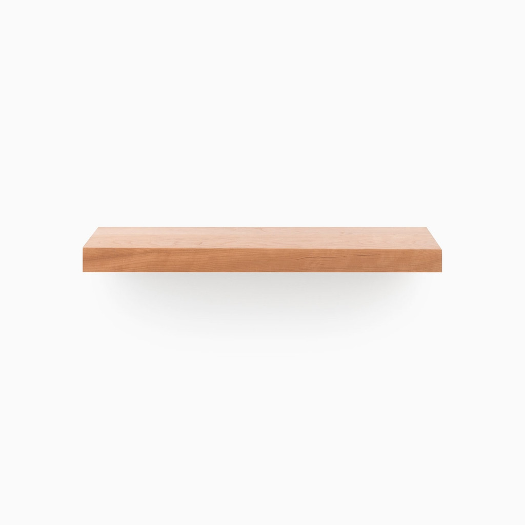 Design your wall with our easy to install Cherry Floating Wood Shelves. Comes with 2 finish options.