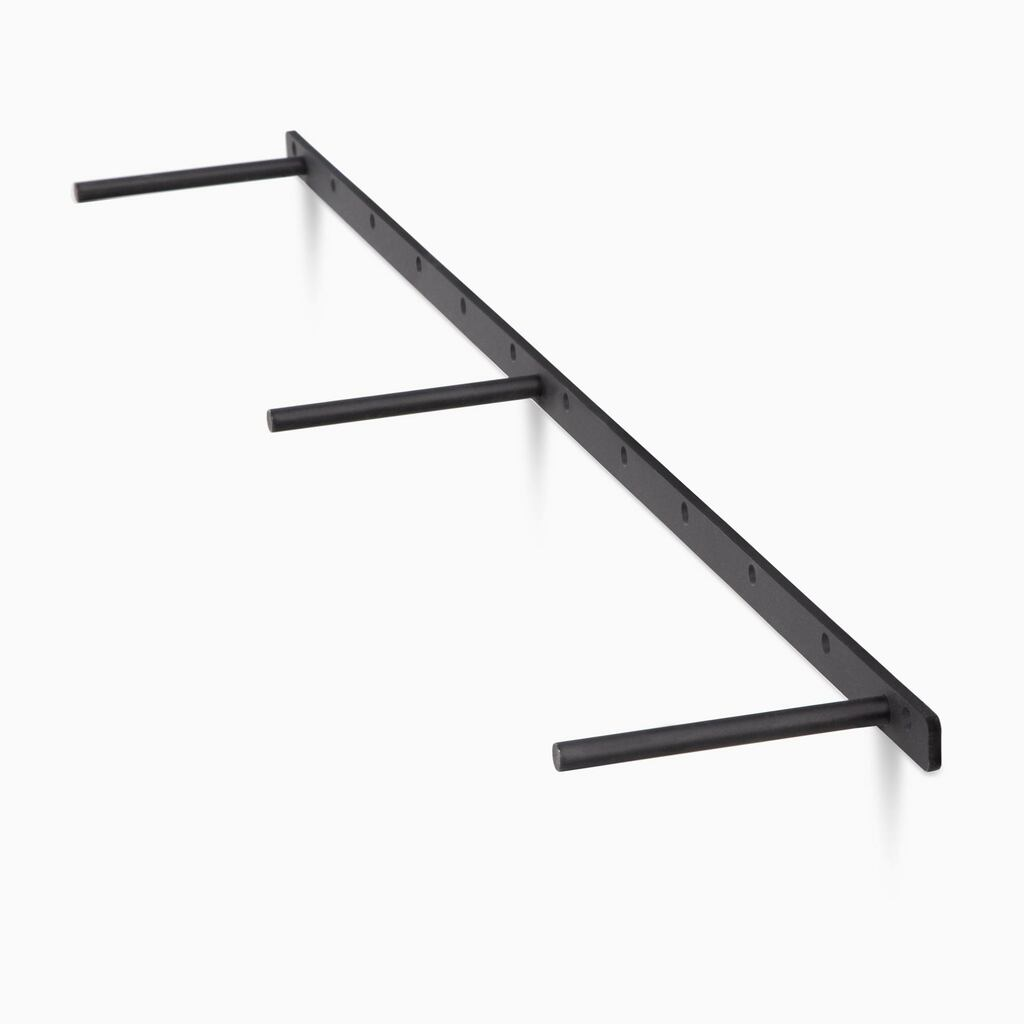 three quarter view of the LD floating shelf bracket, comes in 15 different lenghts