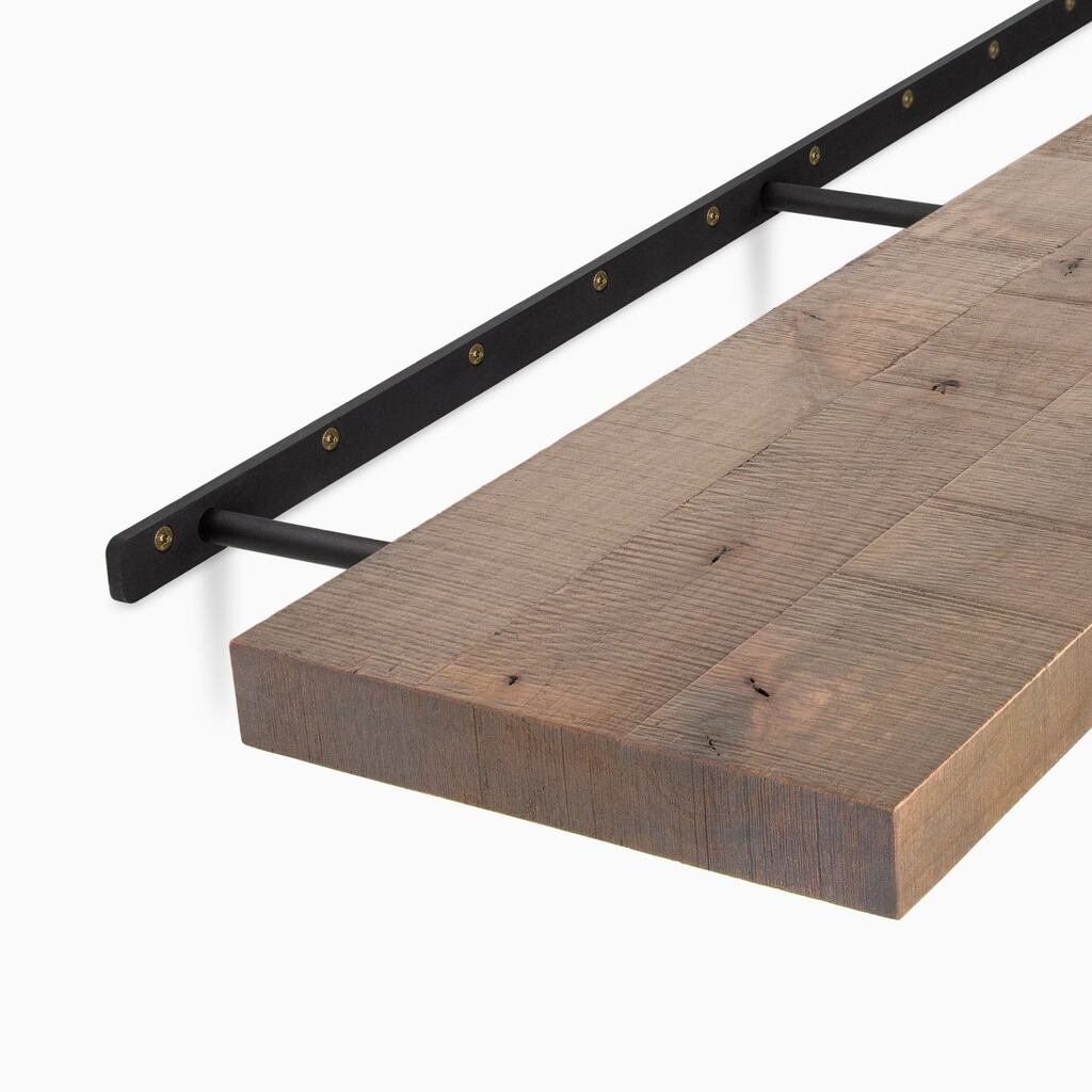 Easily hide the bracket in your floating shelf