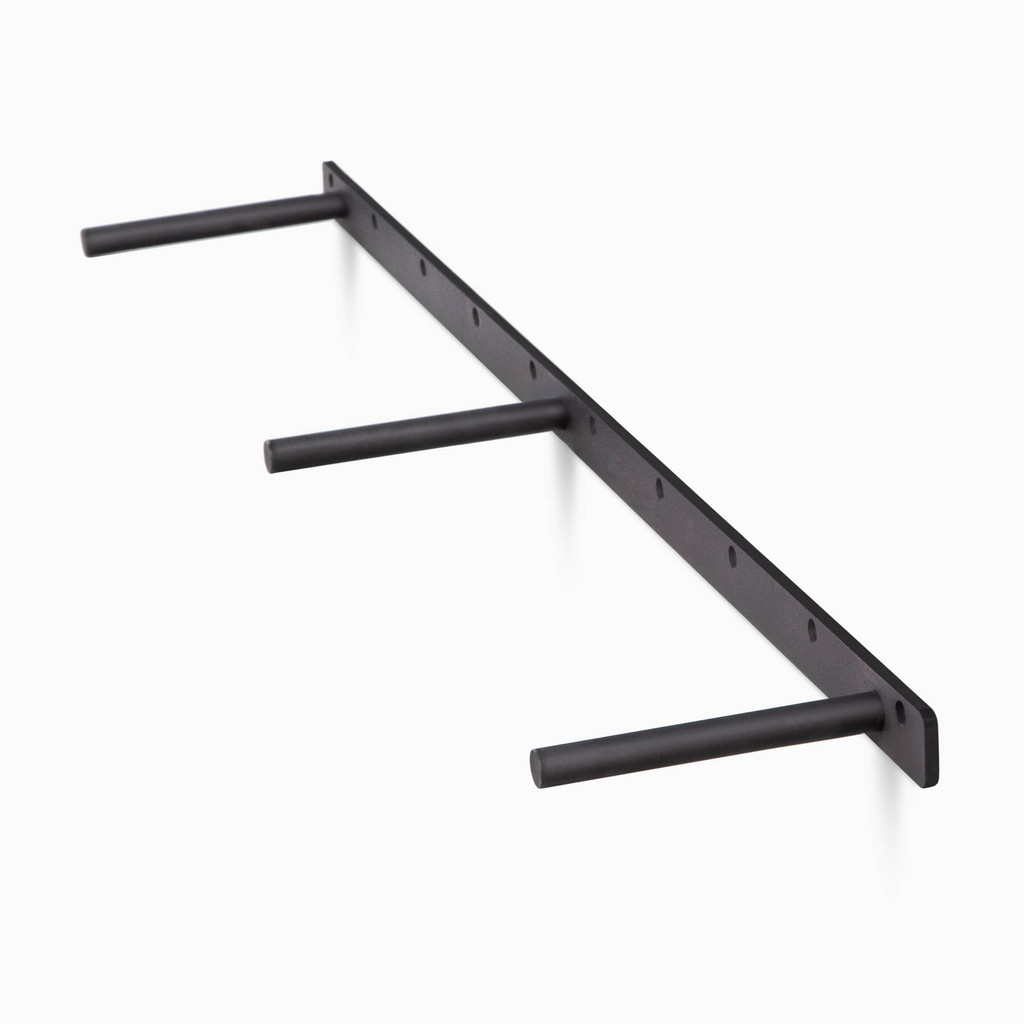 three quarter view of the MD floating shelf bracket, available in 15 lengths