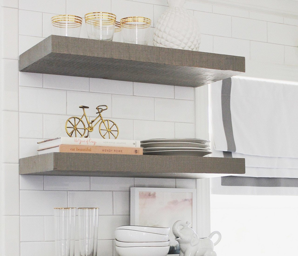 Open shelving upgrades any kitchen style.