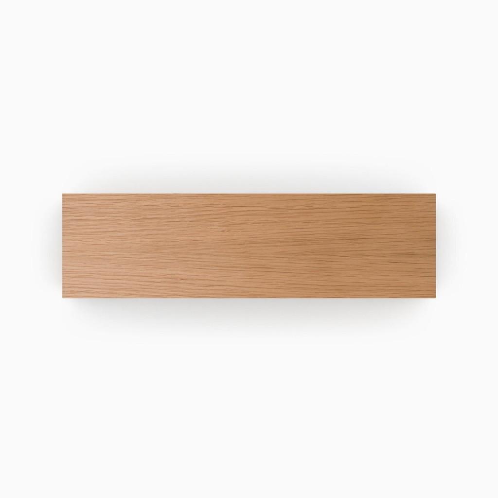 Clear Finished White Oak Shelf Slab