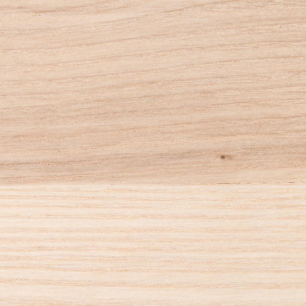 Unfinished ash shelf closeup