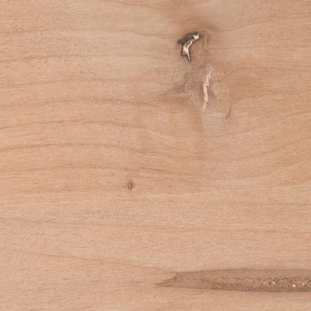 Unfinished Alder shelf closeup