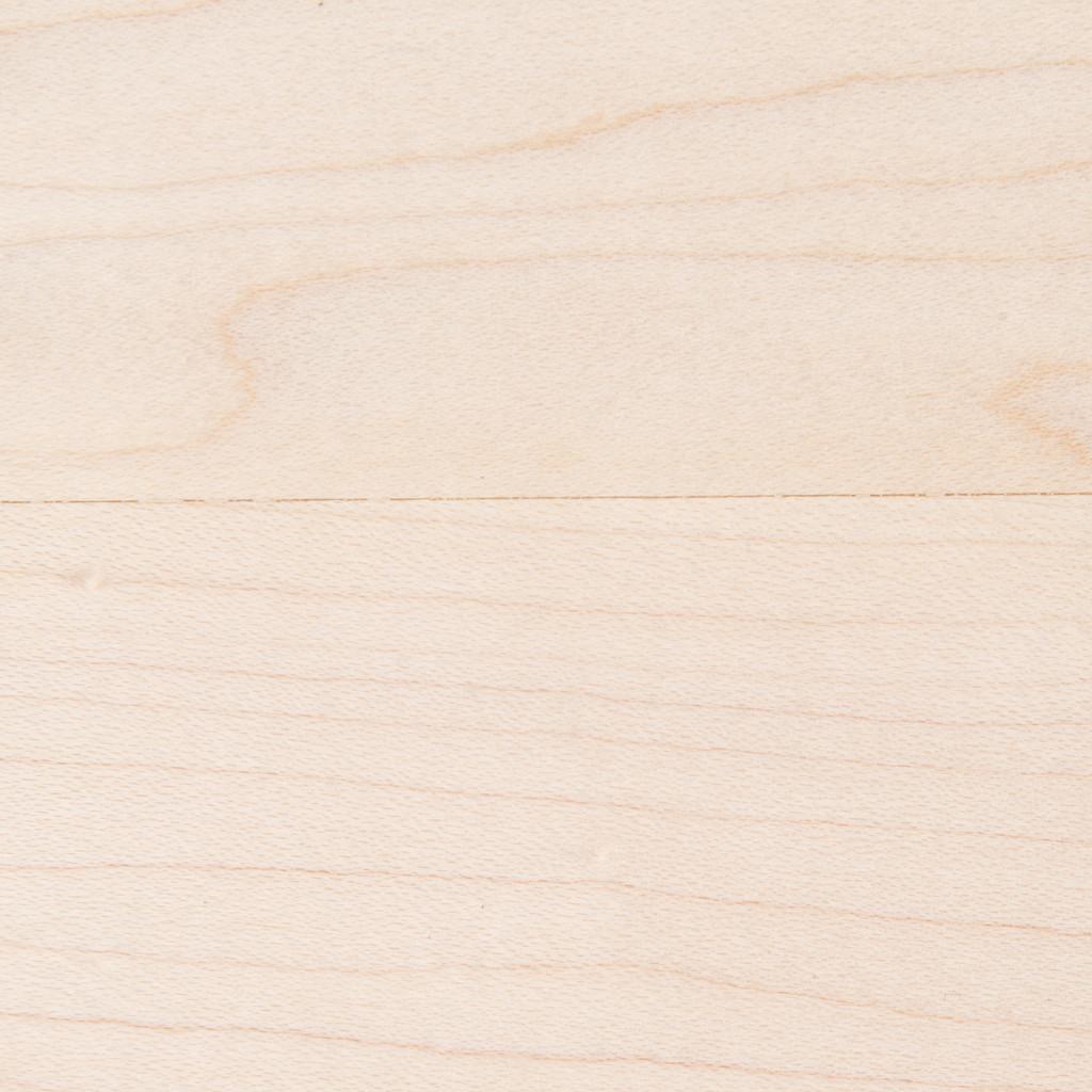 Unfinished maple shelf closeup