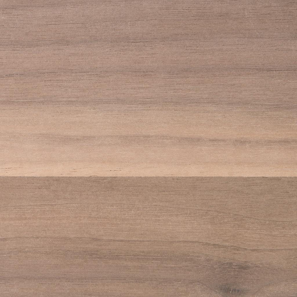 Unfinished walnut shelf, closeup