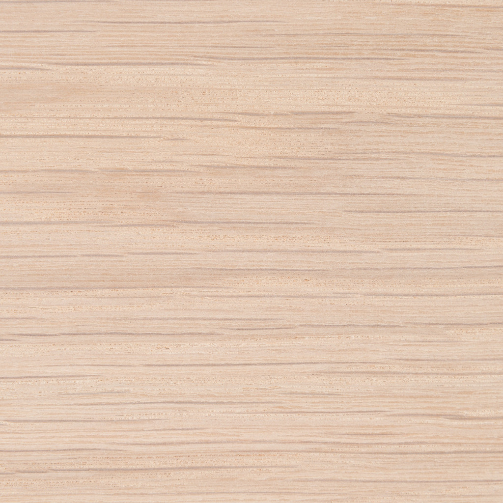 Unfinished white oak shelf, closeup