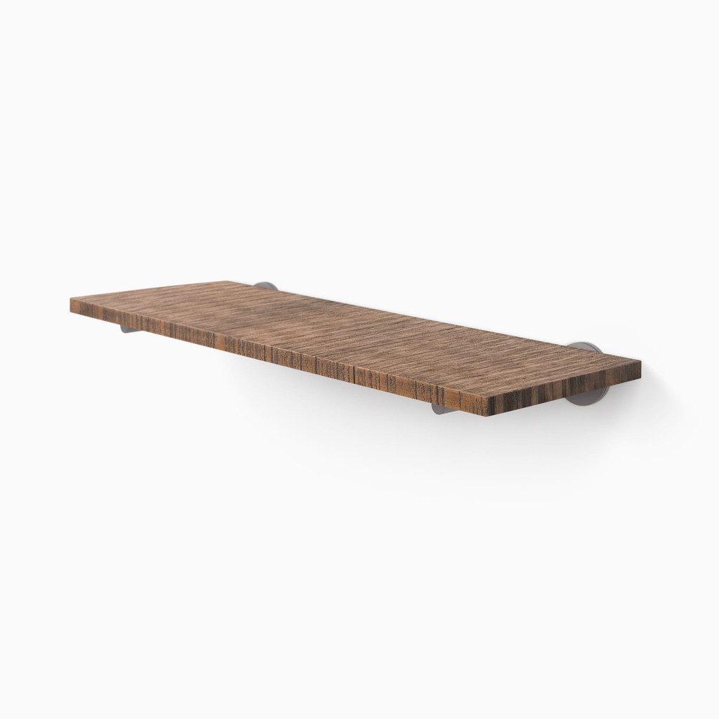 Roderick Nutmeg Floating Shelf (Rough Cut)