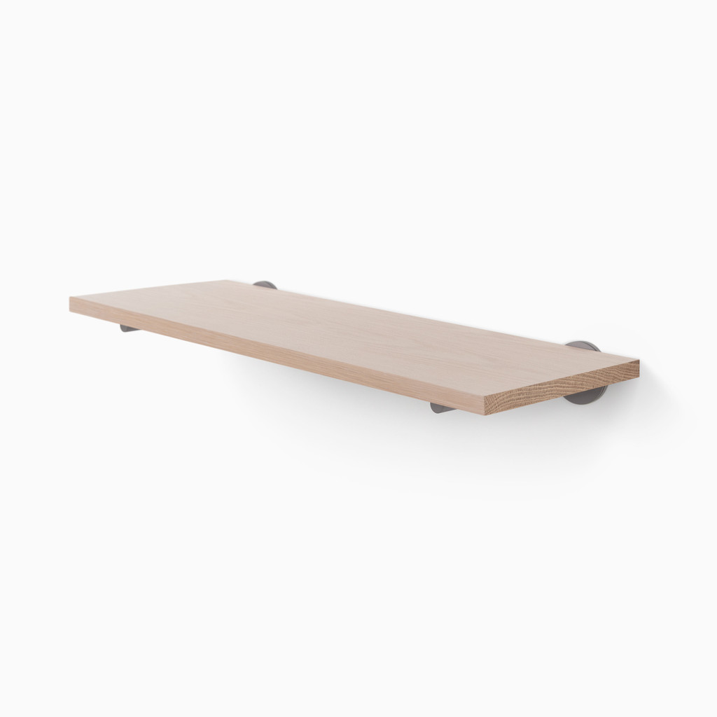 Roderick White Oak Wall Shelf (Glazed)