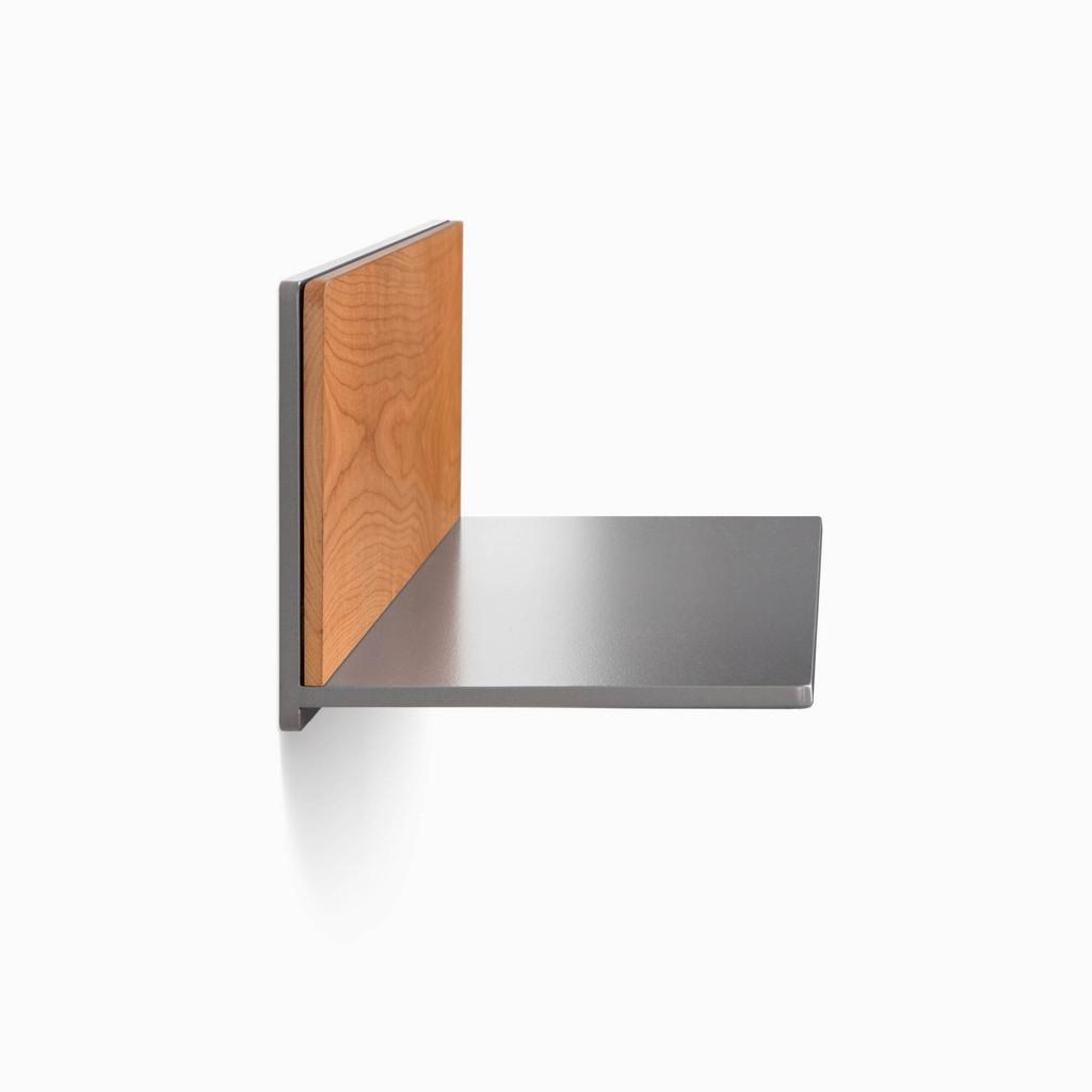 Tromso FM5 Steel Floating Shelf (Hardwood Accent)