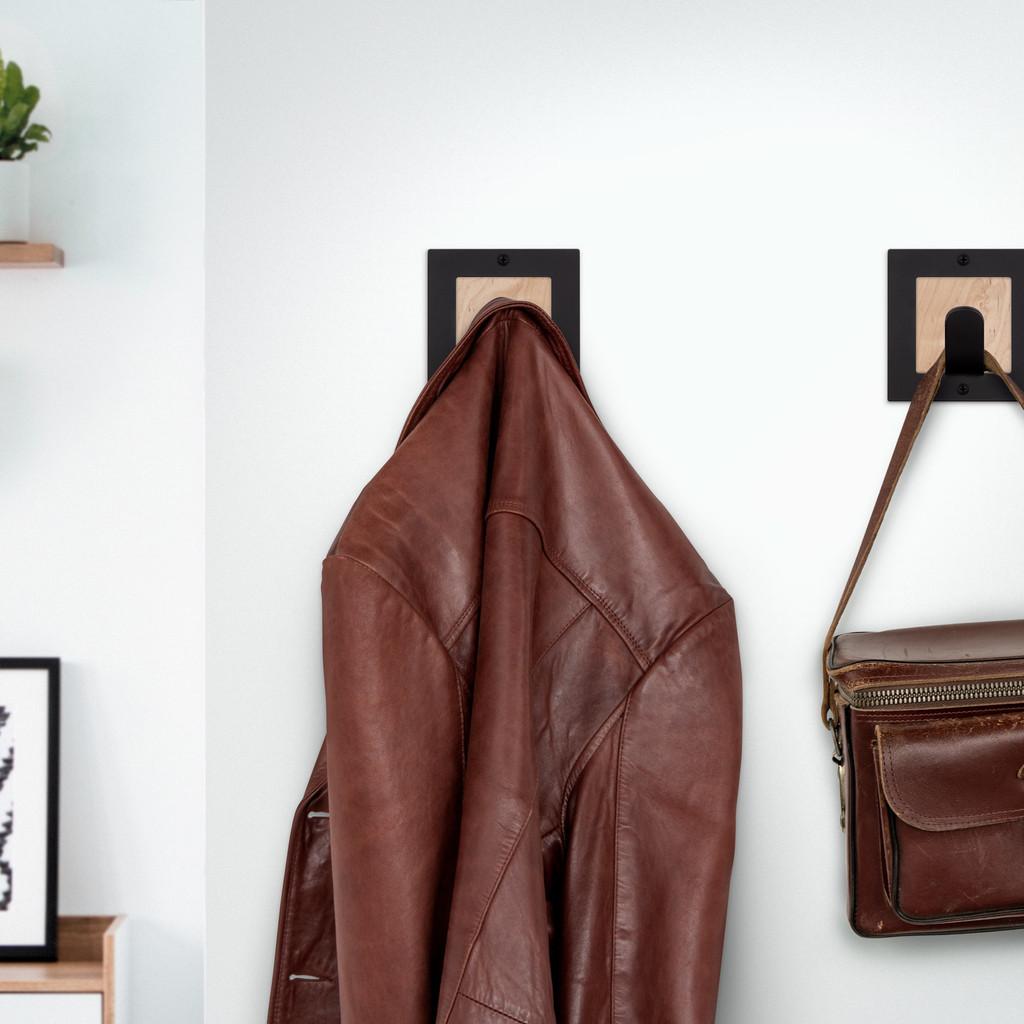 Shingle Square Wall Hook + Hardwood