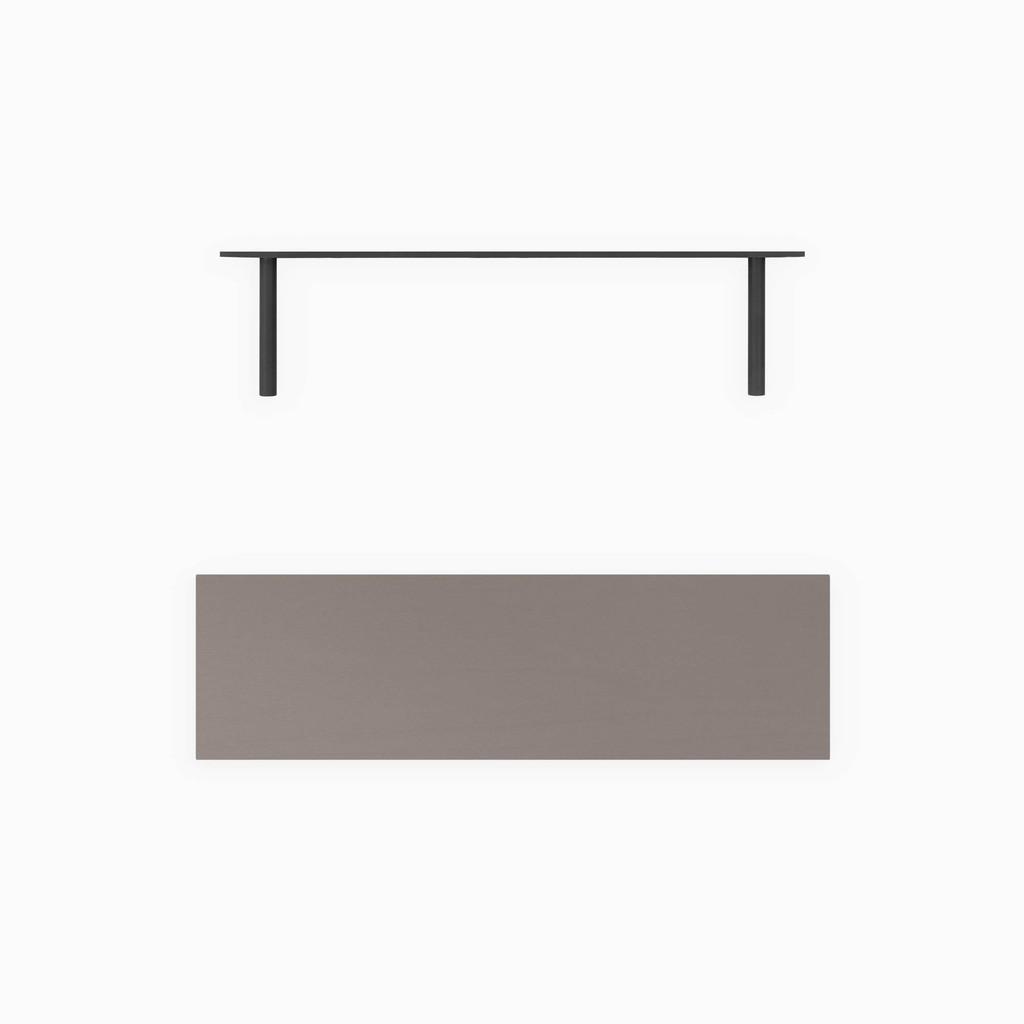 Aksel Arsenic Floating Shelf