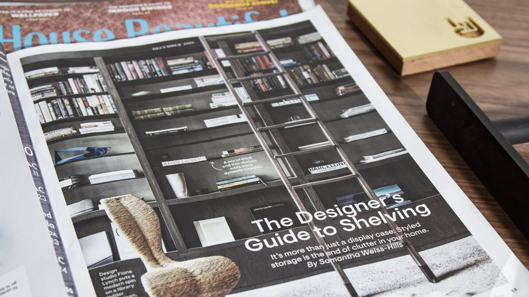 Shelfology mentioned in House Beautiful Magazine December 2019