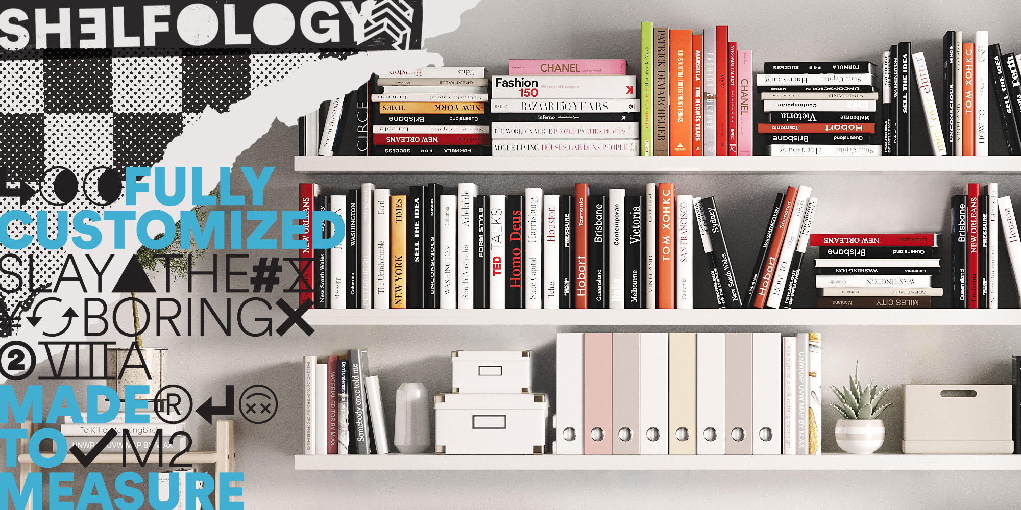 YES! Shelfology floating shelves are strong enough to hold a library of books!