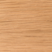 Clear satin finish white oak shelf, closeup