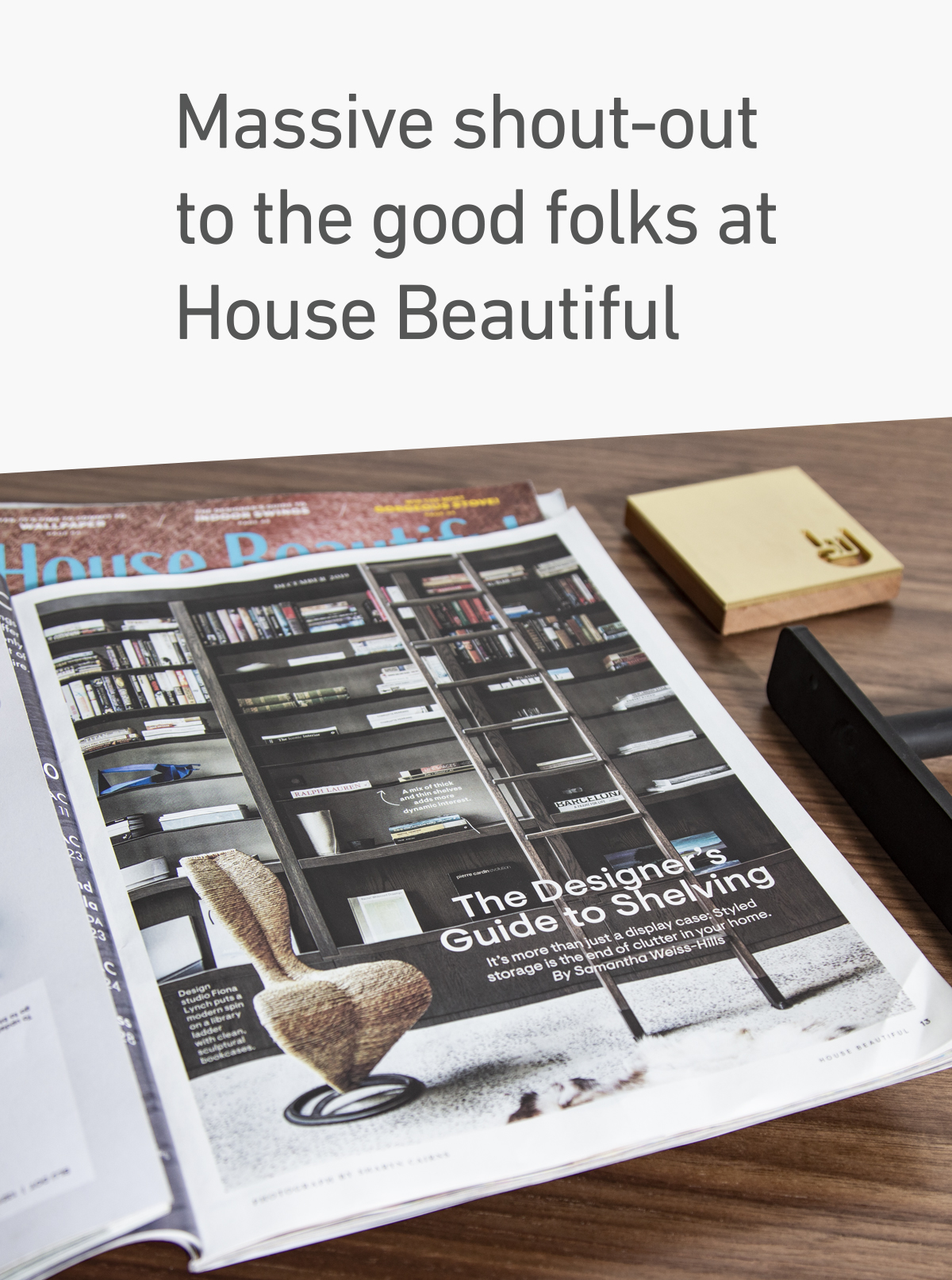 Floating Shelves by Shelfology featured in House Beautiful Magazine. Shout Out.