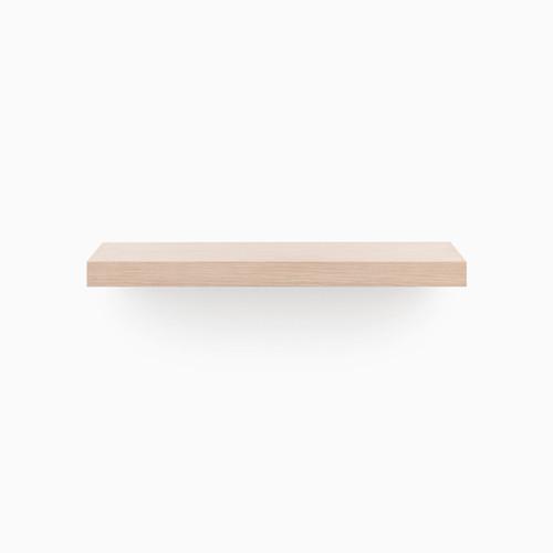 Shop Aksel White Oak Floating Shelf (Glazed) from Shelfology on Openhaus