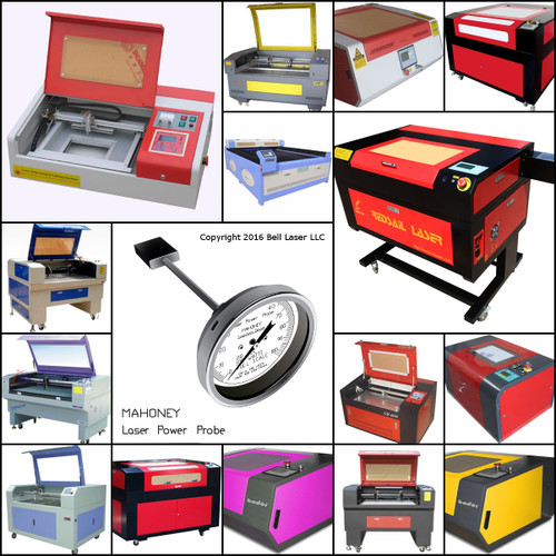 Laser engraving machines and laser cutting systems owners and operators used Mahoney laser power probes