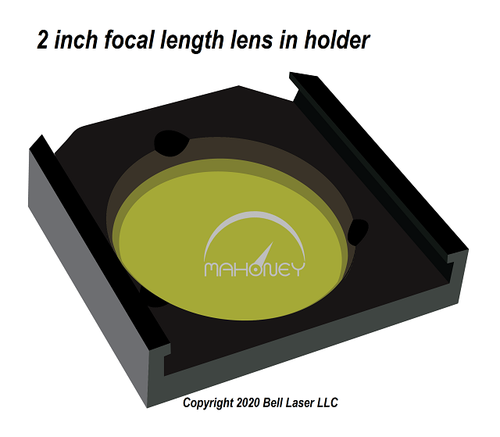 Trotec compatible premium grade focus lens that has a two inch focal length, and made from high quality ZnSe