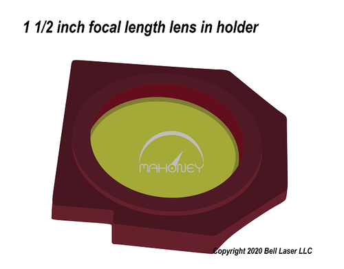 1.5 inch focal length lens for Trotec laser engravers for finest detail