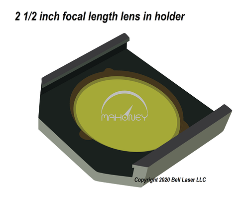 2.5 inch focal length lens for Trotec laser engravers for standard high quality cutting and engraving detail