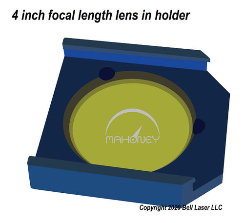4 inch focal length lens for Trotec laser engravers for straight edge cutting thick materials