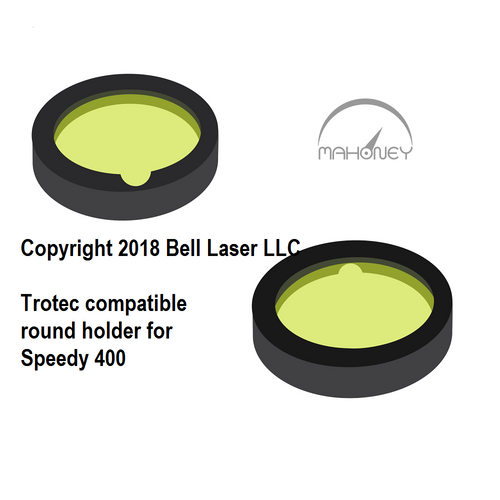 ROUND holder type for Trotec compatible premium grade focus lens that has a two inch focal length, and made from high quality ZnSe fits Speedy 400