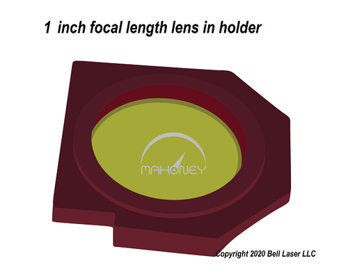 1 inch focal length lens for Trotec laser engravers for finest detail