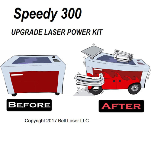 Trotec Speedy 300 laser engraver upgrade to high laser output power