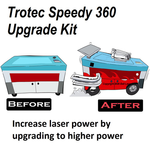 Trotec Speedy 360 laser engraver upgrade to high laser output power