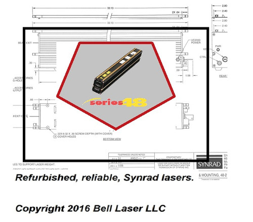 Synrad 48-2 25 watt CO2 laser gas refill and parts service