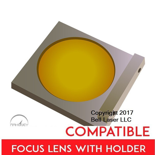 Universal Laser Systems compatible medium grade focus lens that has a two  and a half inch focal length, and made from high quality ZnSe